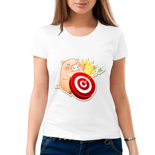 Женская футболка хлопок  Фото 03, Pig (5)