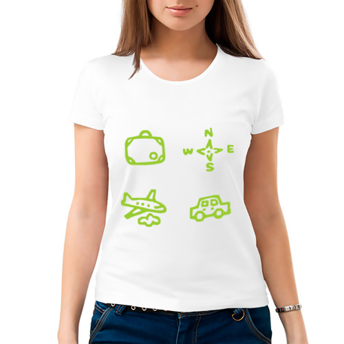 Женская футболка хлопок  Фото 03, Путешествие