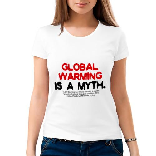 Женская футболка хлопок  Фото 03, Глобальное потепление является мифом