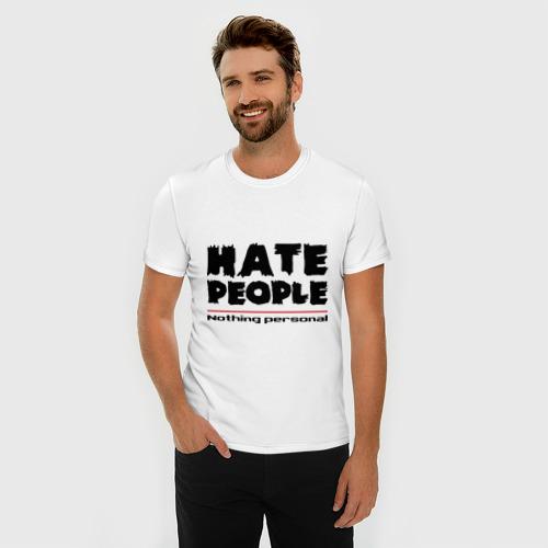 Мужская футболка премиум  Фото 03, Hate People