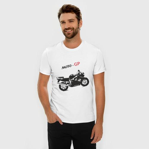 Мужская футболка премиум  Фото 03, Moto-GP