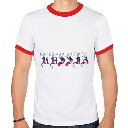 Мужская футболка рингер  Фото 01, Russia (2)