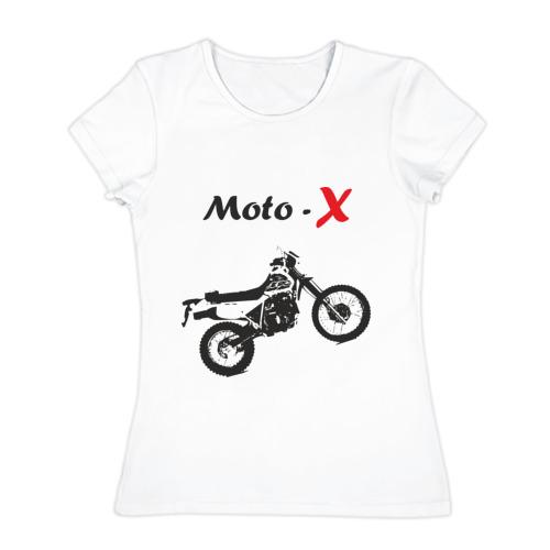 Женская футболка хлопок  Фото 01, Мотокросс