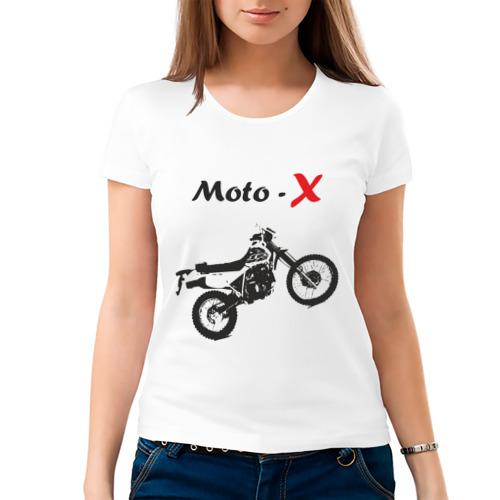 Женская футболка хлопок  Фото 03, Мотокросс