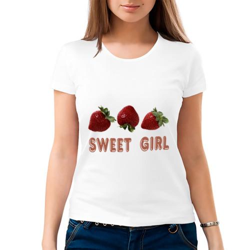 Женская футболка хлопок  Фото 03, Sweet girl