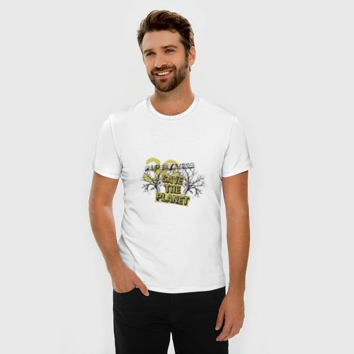 Мужская футболка премиум  Фото 03, Save the planet (4)