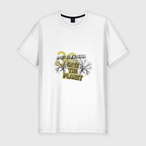Мужская футболка премиум  Фото 01, Save the planet (4)