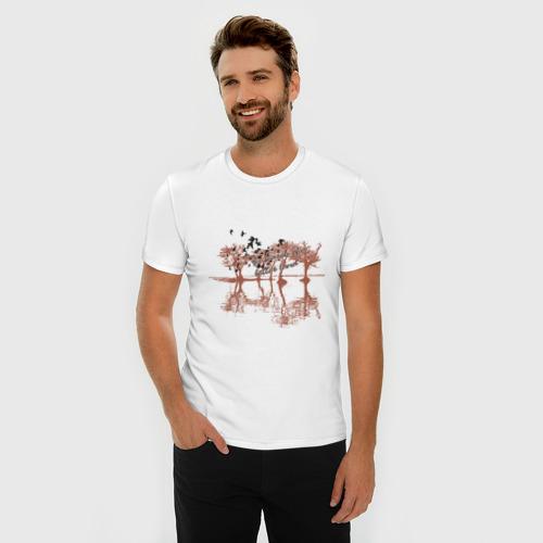 Мужская футболка премиум  Фото 03, Деревья