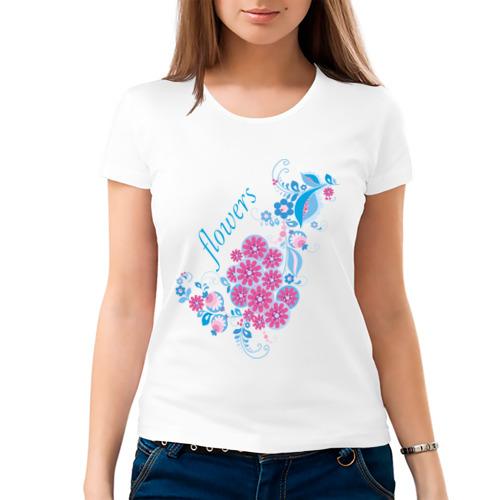 Женская футболка хлопок  Фото 03, Flowers