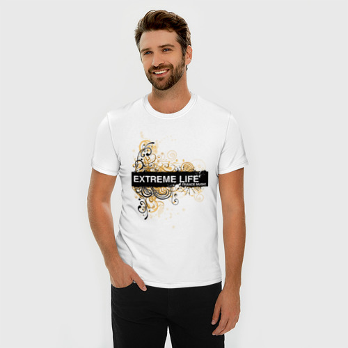 Мужская футболка премиум  Фото 03, Extreme life ( trance music )