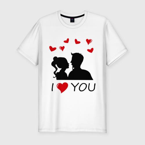 Мужская футболка премиум  Фото 01, I love you (12)