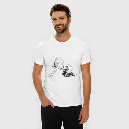 Мужская футболка премиум  Фото 03, Девочка бандитка