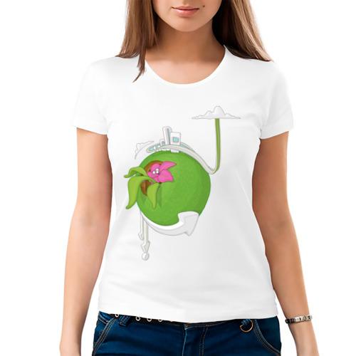 Женская футболка хлопок  Фото 03, Кактус