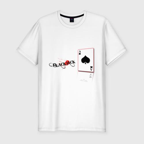 Мужская футболка премиум  Фото 01, Black jack