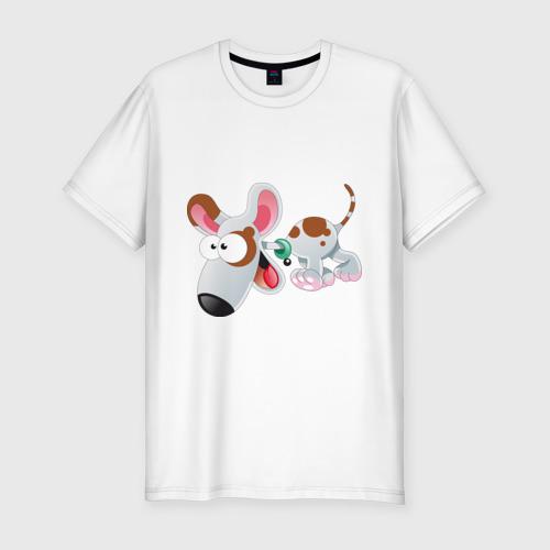 Мужская футболка премиум  Фото 01, Cartoon dog