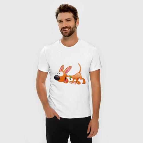 Мужская футболка премиум  Фото 03, Cartoon dog (2)