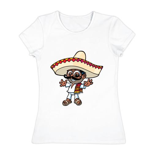 Женская футболка хлопок  Фото 01, Mexican