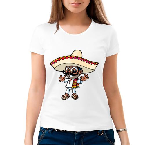 Женская футболка хлопок  Фото 03, Mexican