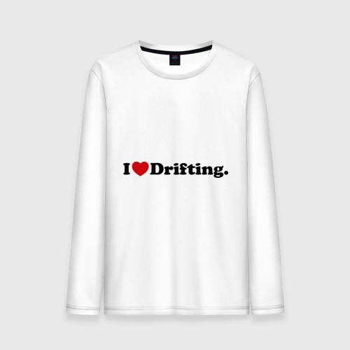 Мужской лонгслив хлопок  Фото 01, I love drifting