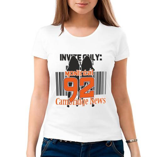 Женская футболка хлопок  Фото 03, Cambridge News