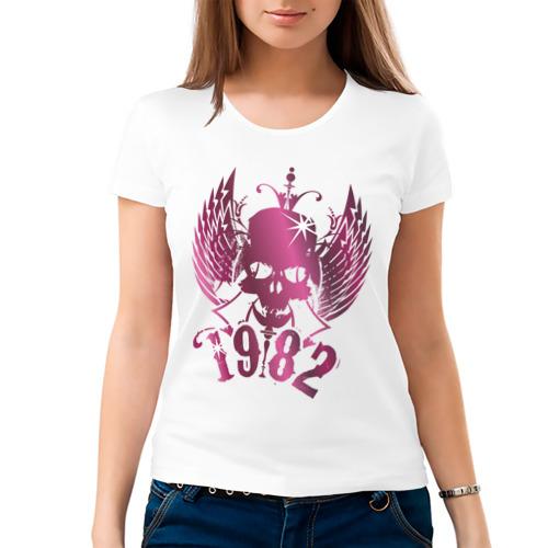 Женская футболка хлопок  Фото 03, Черепушка (2)