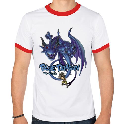 Мужская футболка рингер  Фото 01, Blue Dragon
