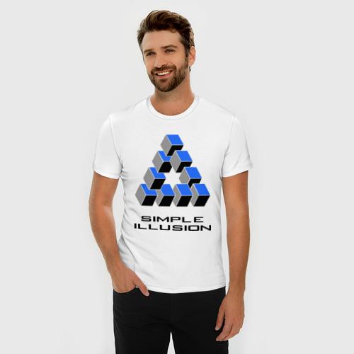 Мужская футболка премиум  Фото 03, Simple illusion