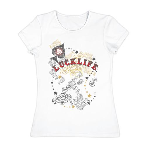 Женская футболка хлопок lucklife
