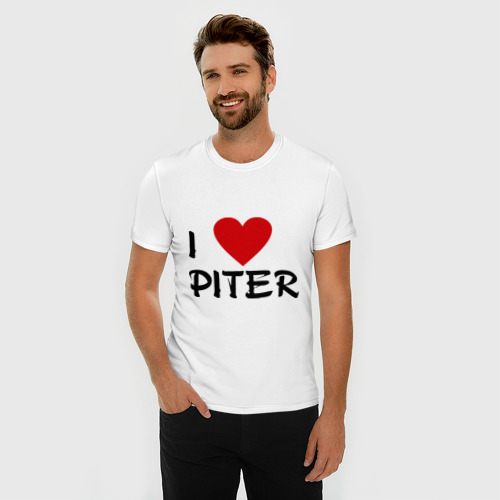 Мужская футболка премиум  Фото 03, Я люблю Питер!