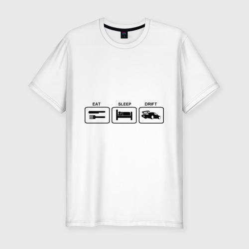 Мужская футболка премиум  Фото 01, Eeat sleep drift