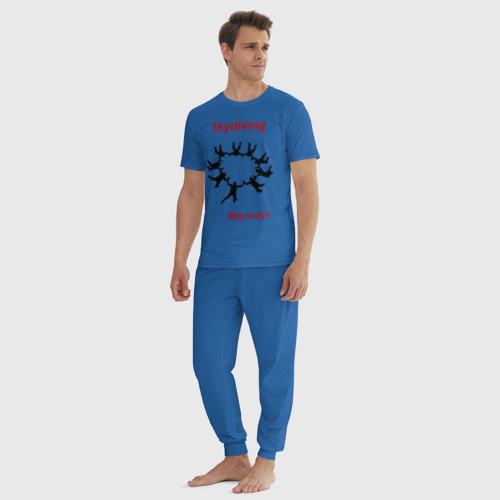 Мужская пижама хлопок Skydiving Фото 01