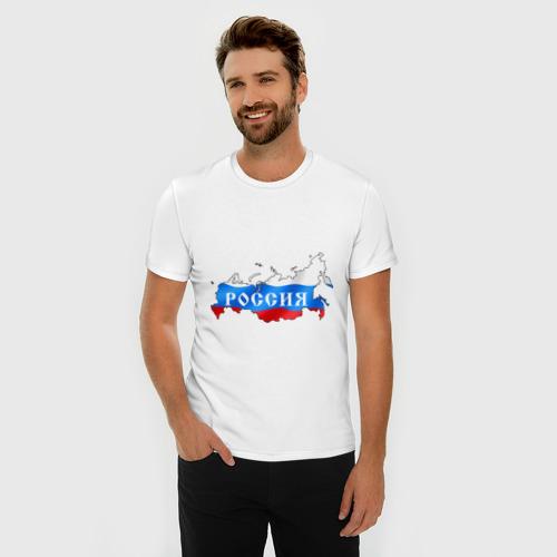 Мужская футболка премиум  Фото 03, Карта России