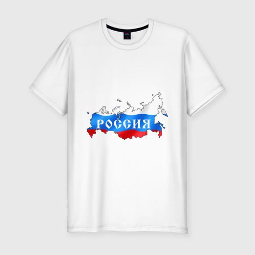 Мужская футболка премиум  Фото 01, Карта России