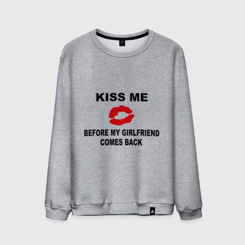 Мужской свитшот хлопок  Фото 01, Kiss me before my girlfriend comes back