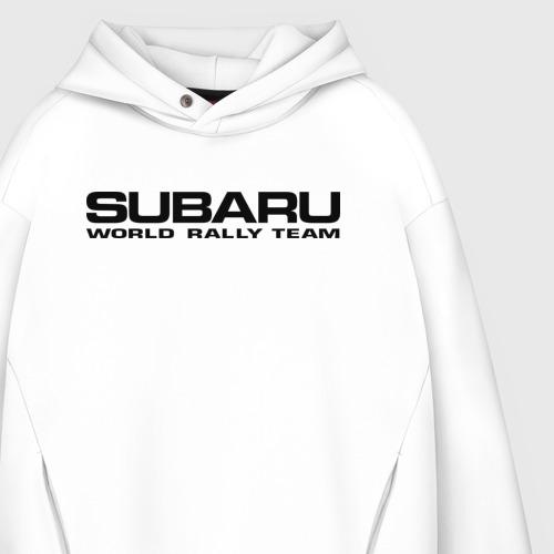 Мужское худи Oversize хлопок Subaru world rally team (2) Фото 01