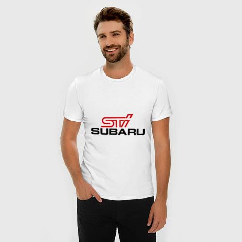 Мужская футболка премиум  Фото 03, Subaru STI