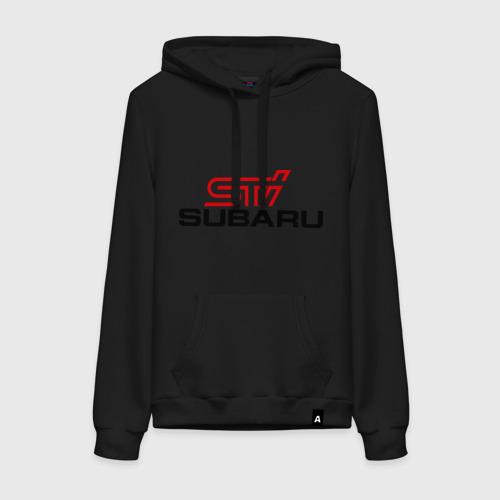 Женская толстовка хлопок Subaru STI