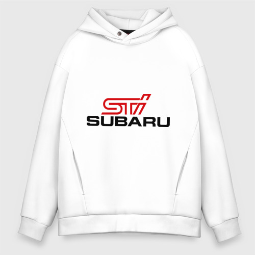 Мужское худи Oversize хлопок Subaru STI Фото 01