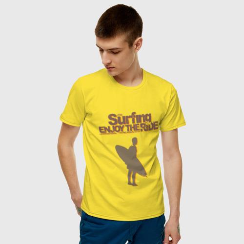Мужская футболка хлопок Surfing enjoy Фото 01