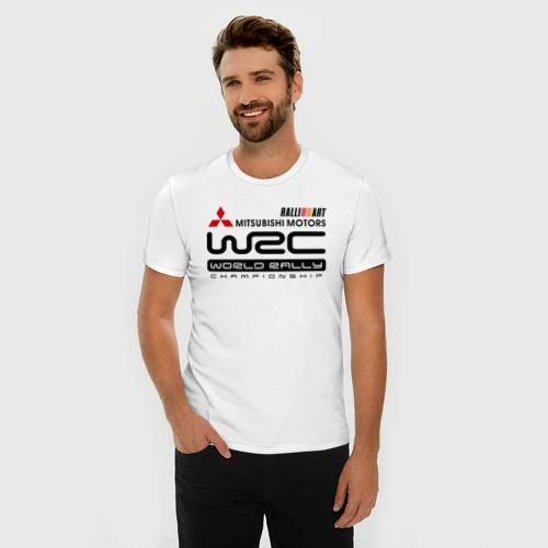 Мужская футболка премиум  Фото 03, Mitsubishi wrc