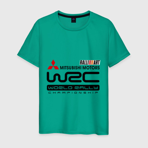 Мужская футболка хлопок Mitsubishi wrc Фото 01