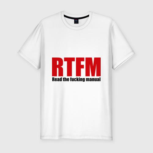Мужская футболка премиум  Фото 01, RTFM