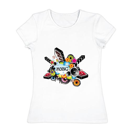 Женская футболка хлопок  Фото 01, Music boom