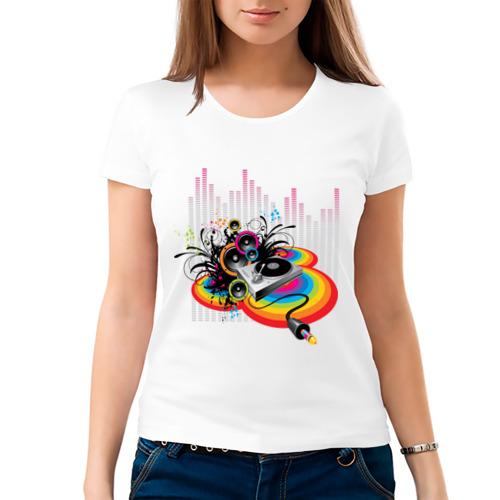 Женская футболка хлопок  Фото 03, Sound power
