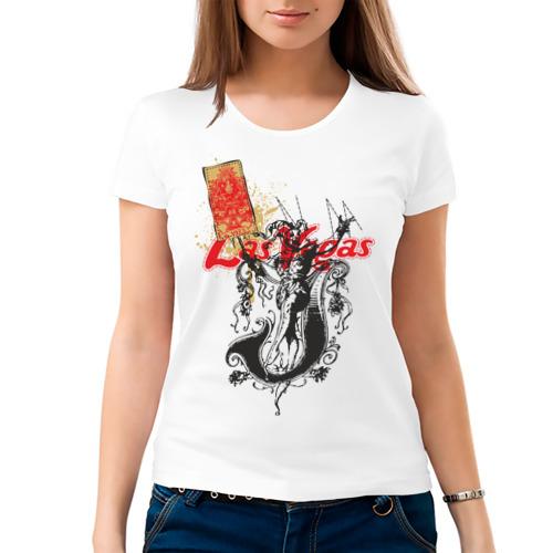 Женская футболка хлопок  Фото 03, Las Vegas