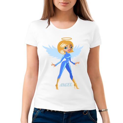 Женская футболка хлопок  Фото 03, Ангел (3)