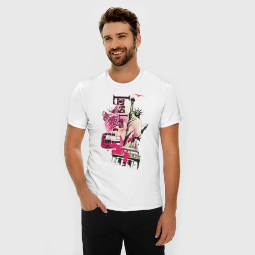 Мужская футболка премиум  Фото 03, Long live punk