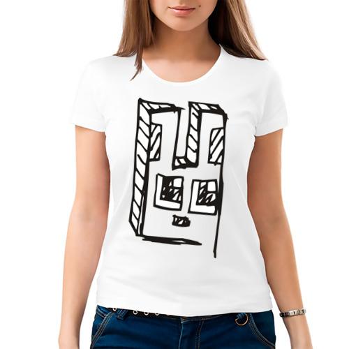 Женская футболка хлопок  Фото 03, Зайчик (4)