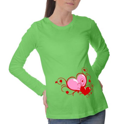 Лонгслив для беременных хлопок 2 сердца (2)