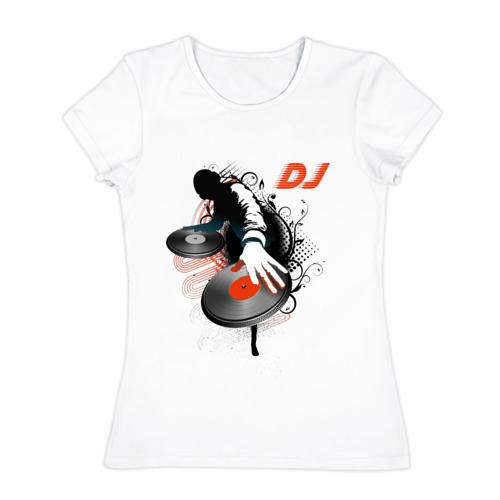 Женская футболка хлопок DJ Black